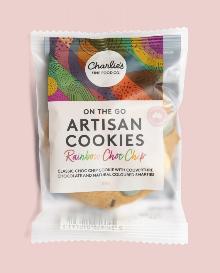 Rainbow Chocolate Chip Artisan Cookies 50g Individually Wrapped (24 pieces)