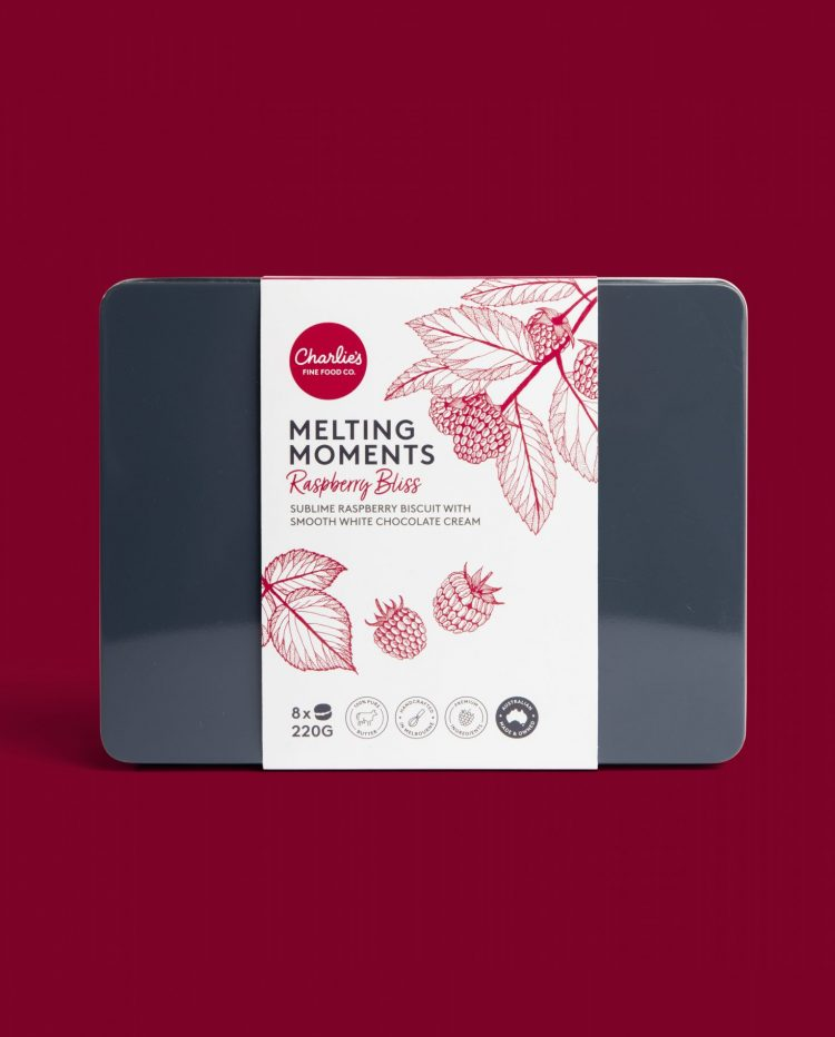 Raspberry Bliss Medium Melting Moments Biscuits 220g Gift Tin