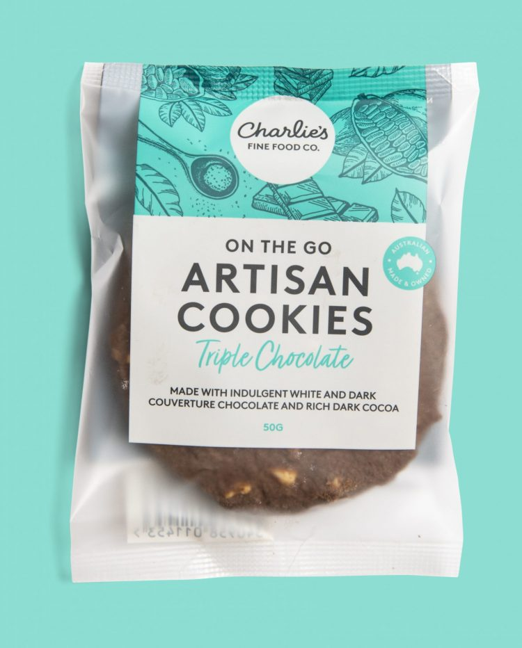 Triple Chocolate Artisan Cookies 50g Individually Wrapped (24 pieces)