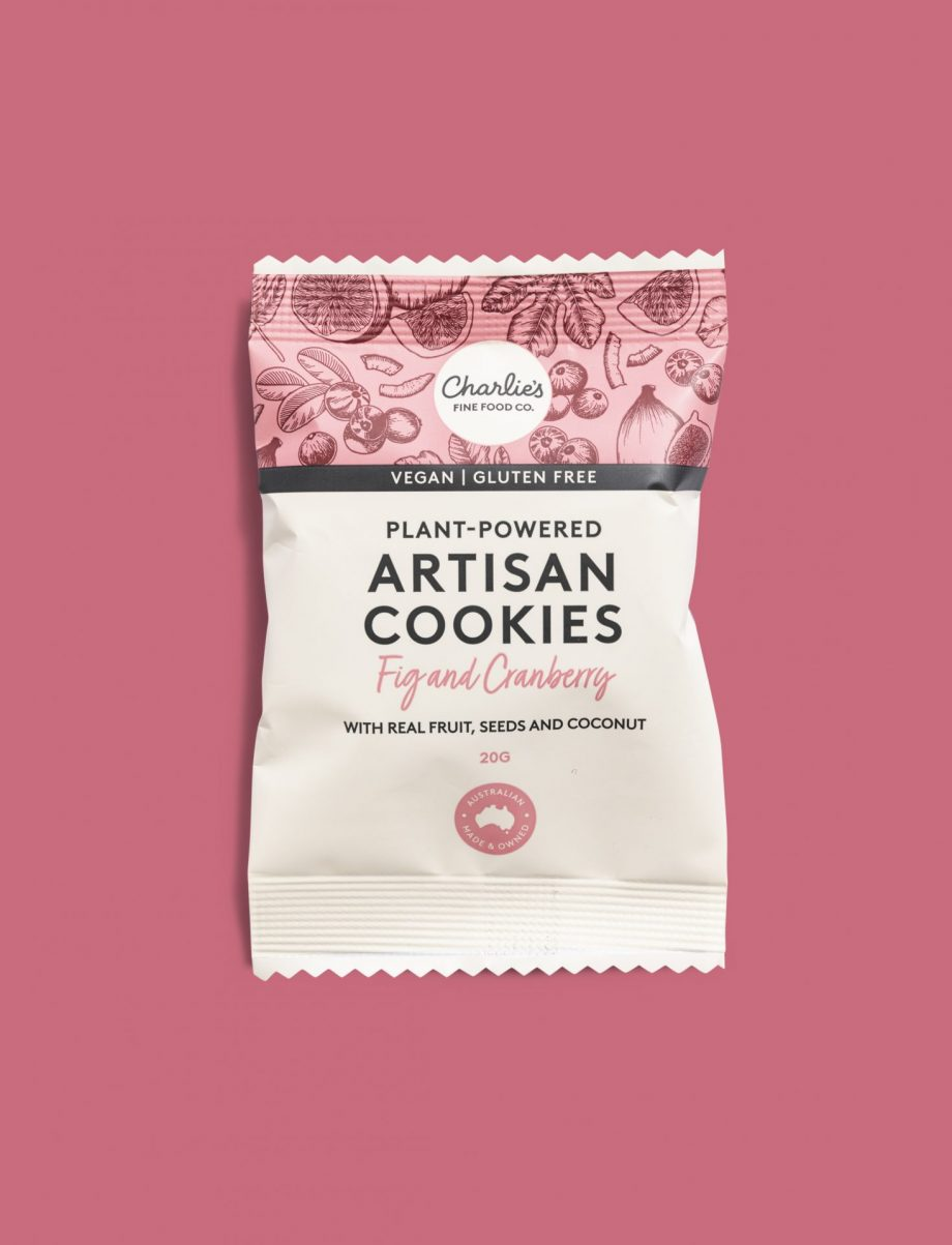 Plant-Powered Fig and Cranberry Artisan Cookies — Vegan/Gluten Free 20g Individually Wrapped (10 pieces)