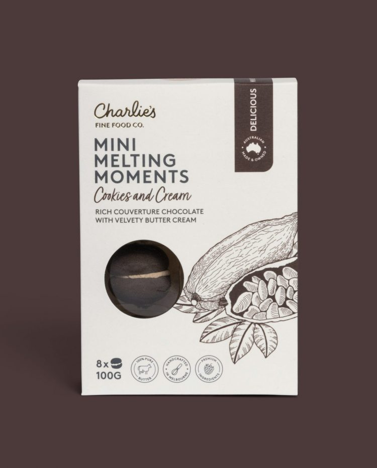 Cookies and Cream Mini Melting Moments Biscuits 100g