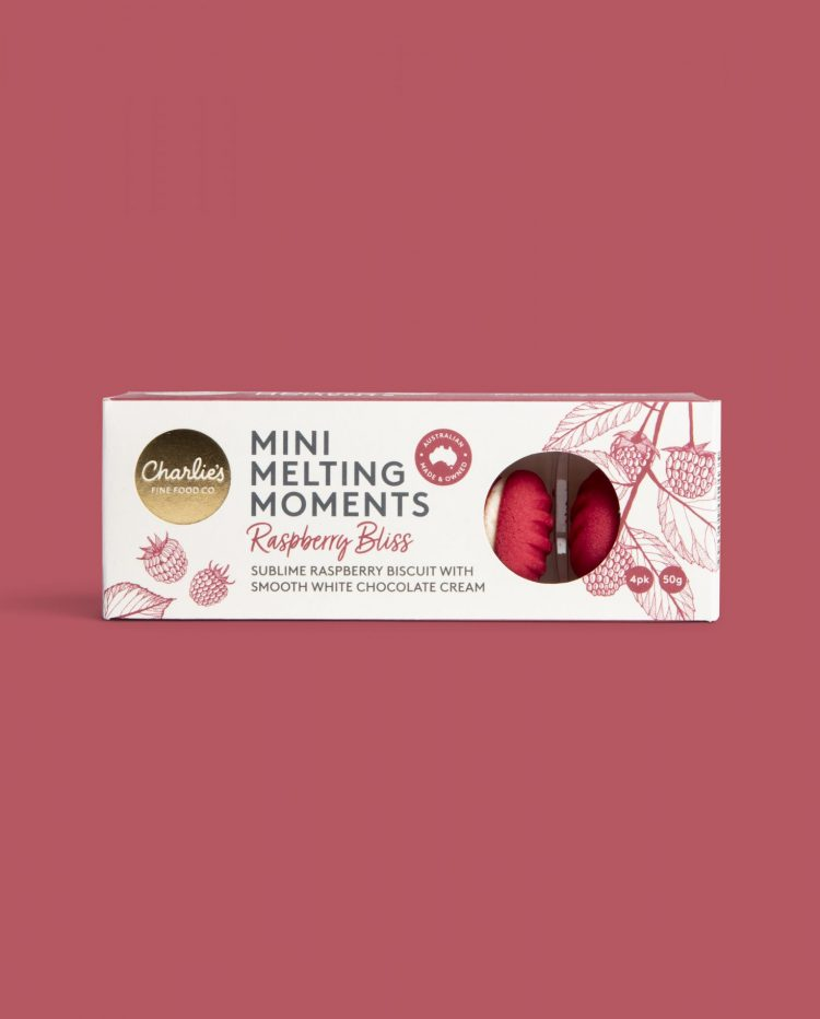Raspberry Bliss Mini Melting Moments Biscuits 50g