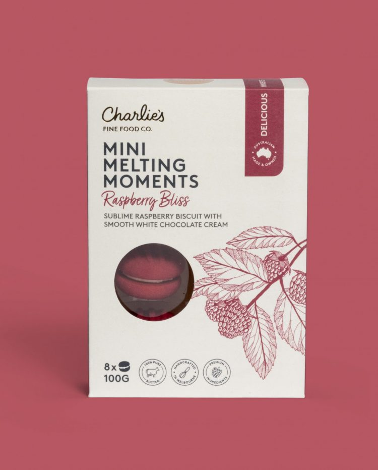 Raspberry Bliss Mini Melting Moments Biscuits 100g