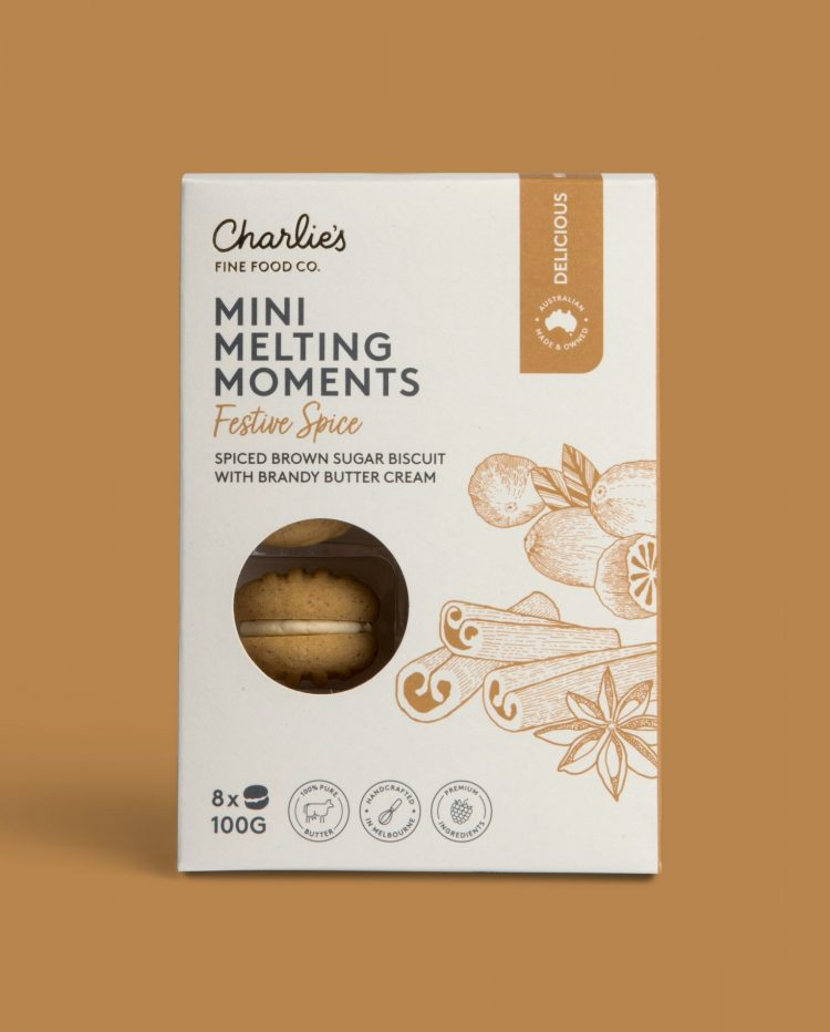 Festive Spice Mini Melting Moments Biscuits 100g