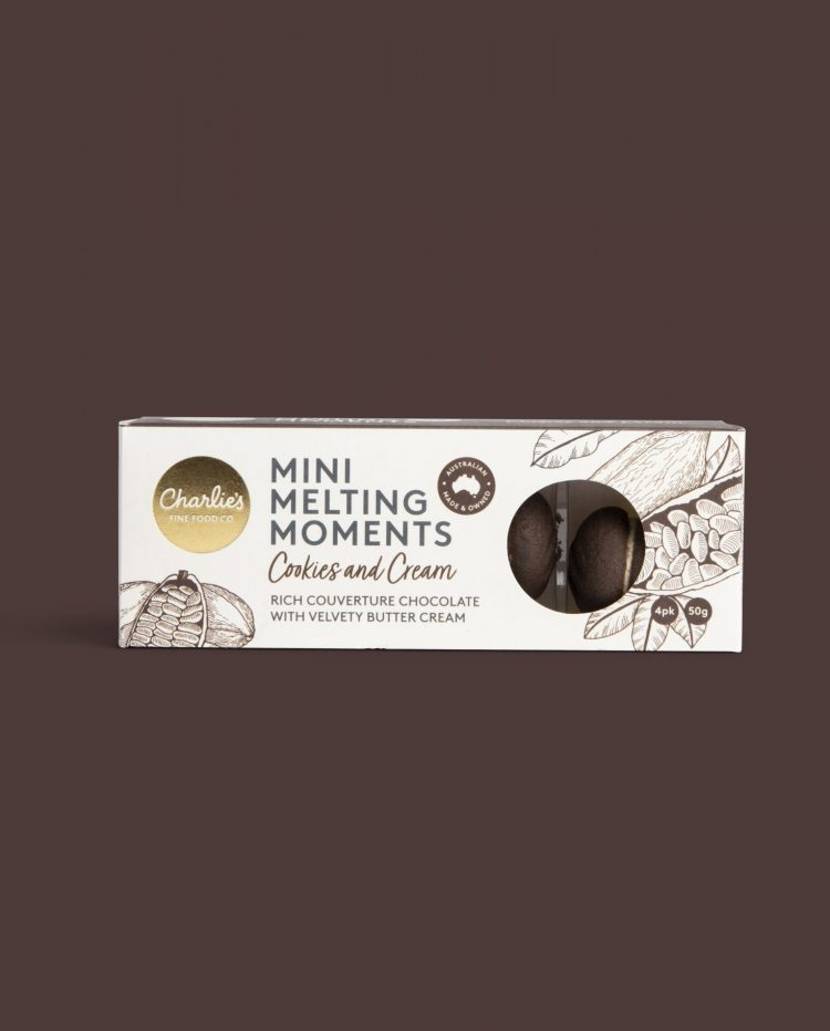 Cookies and Cream Mini Melting Moments Biscuits 50g