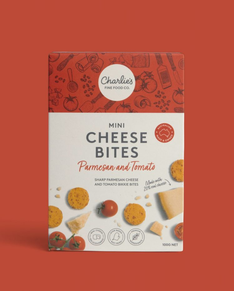 Parmesan and Tomato Mini Cheese Bites Biscuits 100g